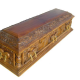 Wooden handmade coffin