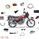 Sell motorcycle parts-chain,tyre,tube,brake shoes,etc