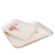 Airline melamine rectangle plastic fast food tray,fruit tray,plastic serving tray