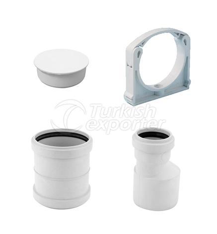 PVC Clamp - End Cap - Reduction