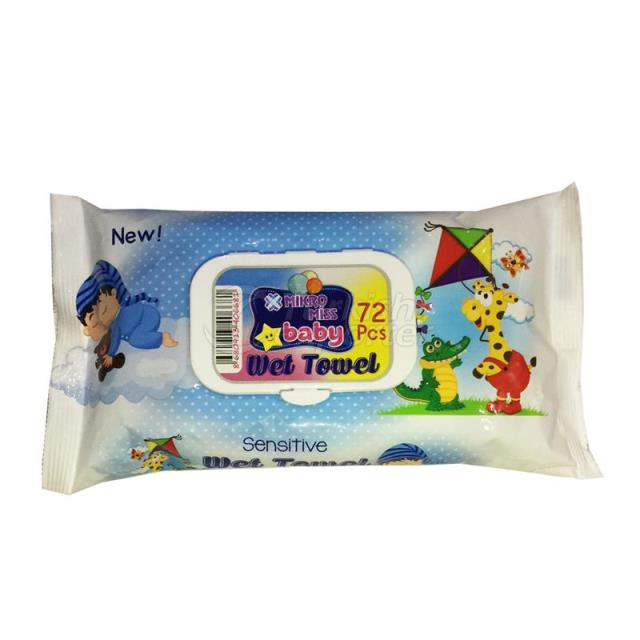 Baby Wet Wipes 72 Pieces