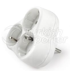 Viko Triple Plug Socket