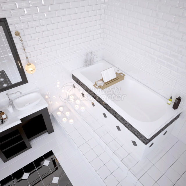 Rectangular Bathtub Flora