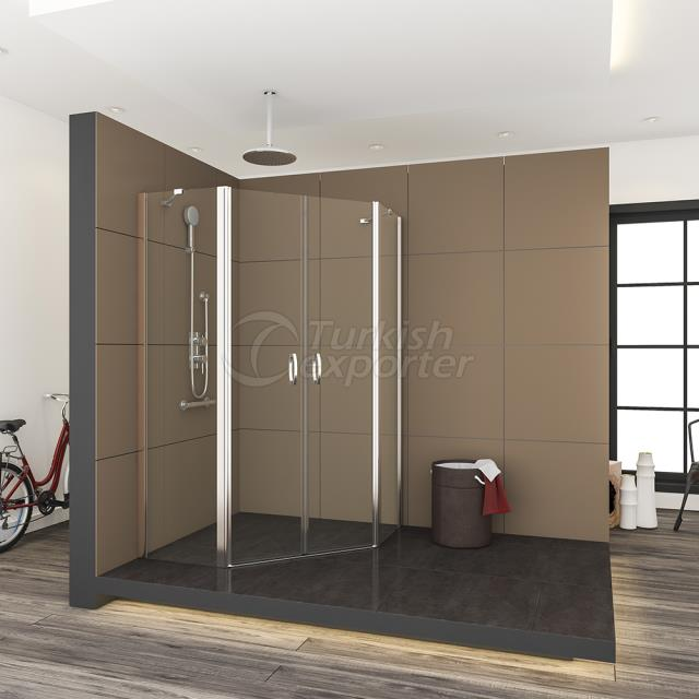 Shower Tray Enclosure Pentagon 330
