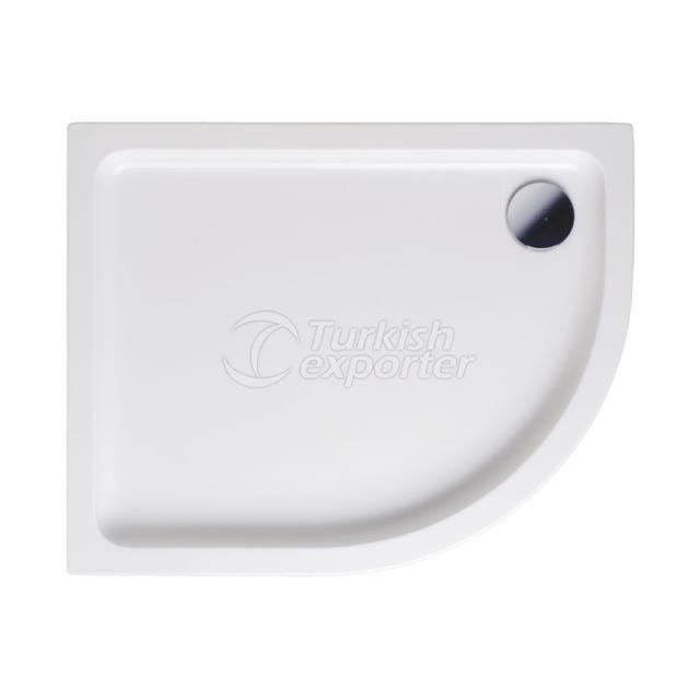Asymmetric Shower Trays