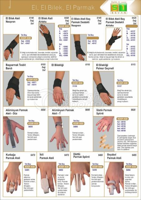 Medical Hand-Wrist Products