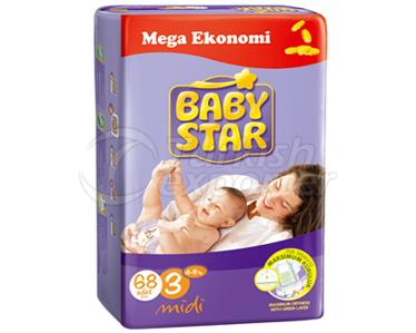 Baby Diaper BabyStar Midi