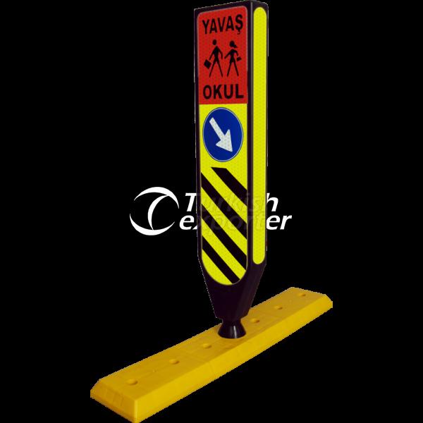 Traffic Island Sign 2603