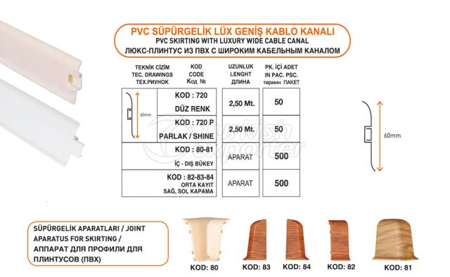 PVC Skirting Lux Cable Channel