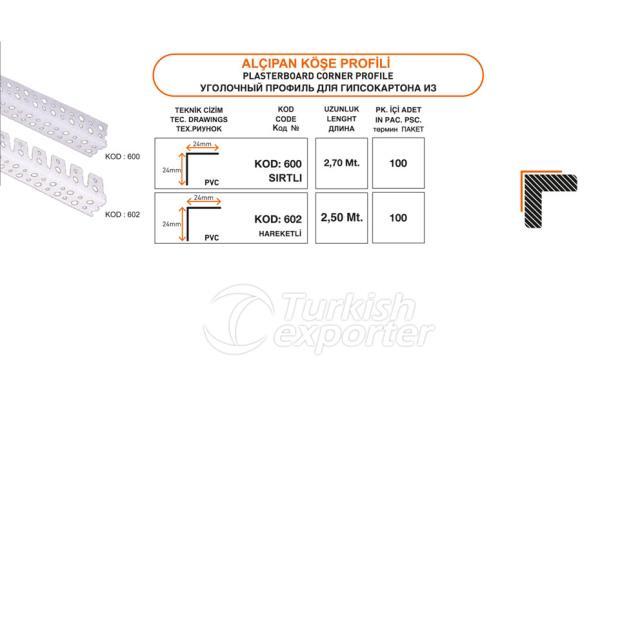 Plasterboard Corner Profile