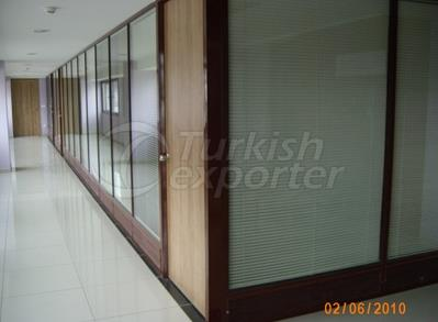 Office Partition with Blinds