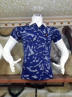 Combed Cotton Fabric - Polo Neck