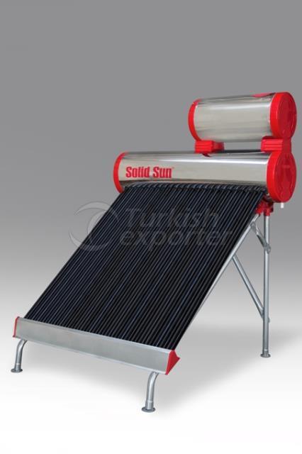 Chrome Half Tank Solar Energy 24 Tube