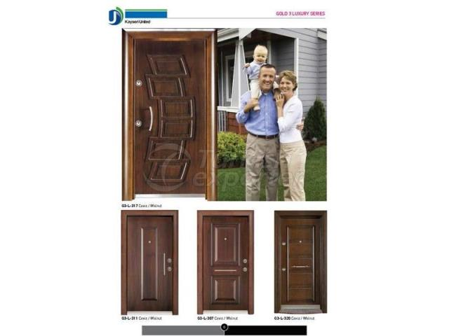 Steel Door Gold3 Luxury