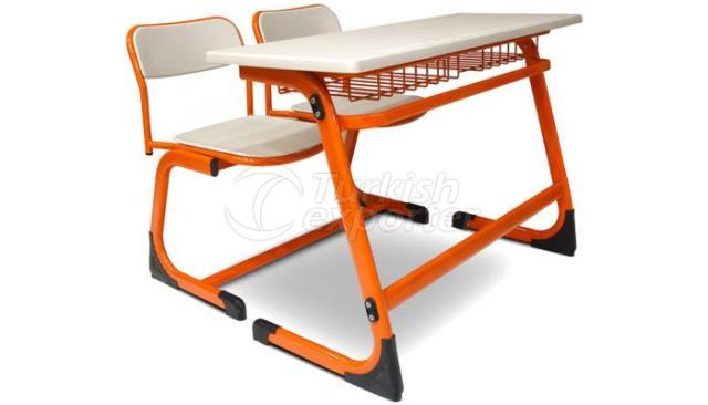 School Desk Double Demounted