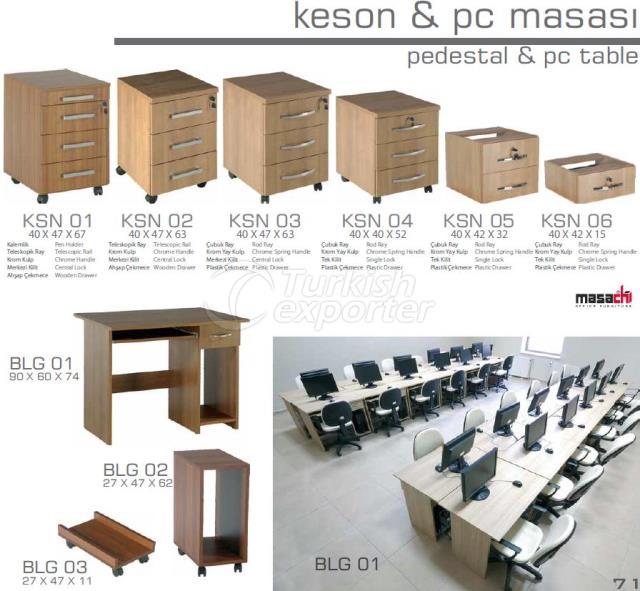 Pedestal-PC Table