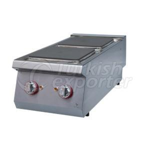 Electric cooker w/2 squarehot plate