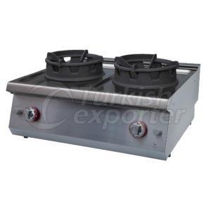 Gas wok cooker w/2 burner, GKW7020