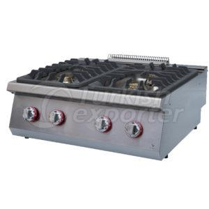 Gas cooker W/four burners