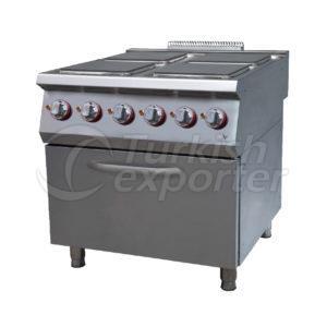 Electric range w/4 squarehot plate,