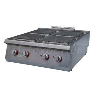 Electric cooker w/4 squarehot plate