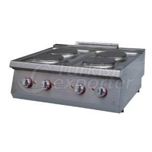 Electric cooker w/4 circlehot plate