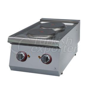 Electric cooker w/2 circle hot plat
