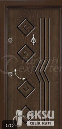 Rustic Panel Steel Door 1716