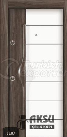 PVC Relief Steel Door 1107