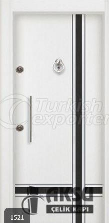 Double Color Laminox Steel Door 1521