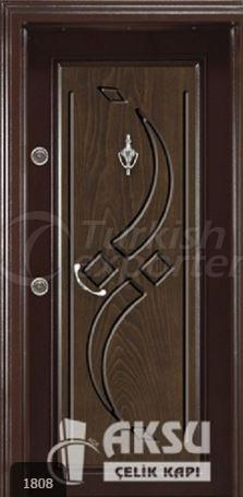 Classic Walnut Steel Door 1808