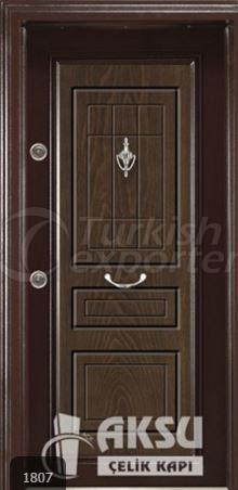 Classic Walnut Steel Door 1807