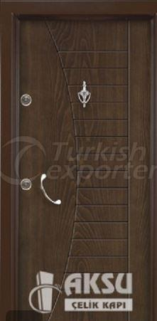 Rustic Panel Steel Door 1719
