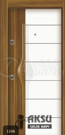 PVC Relief Steel Door 1106