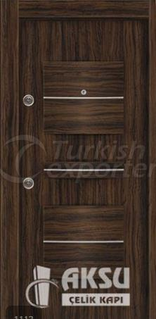 PVC Relief Steel Door 1113