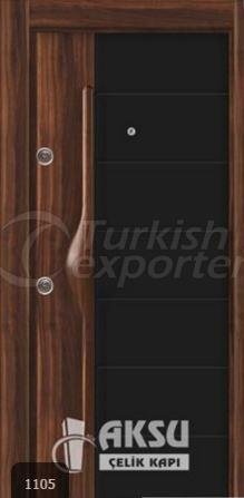 PVC Relief Steel Door 1105