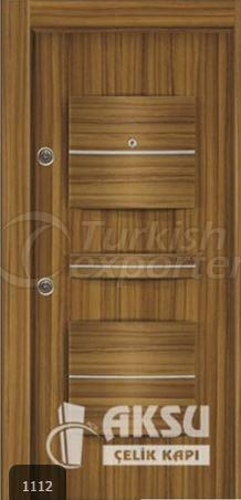 PVC Relief Steel Door 1112