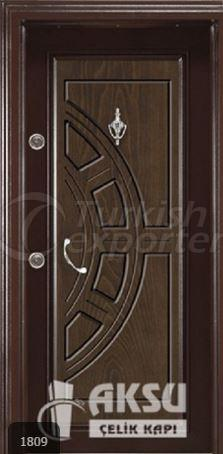 Classic Walnut Steel Door 1809