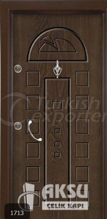 Rustic Panel Steel Door 1713