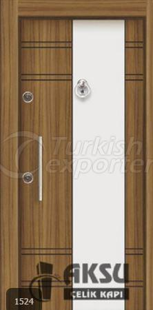 Double Color Laminox Steel Door 1524