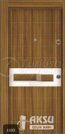 PVC Relief Steel Door 1103