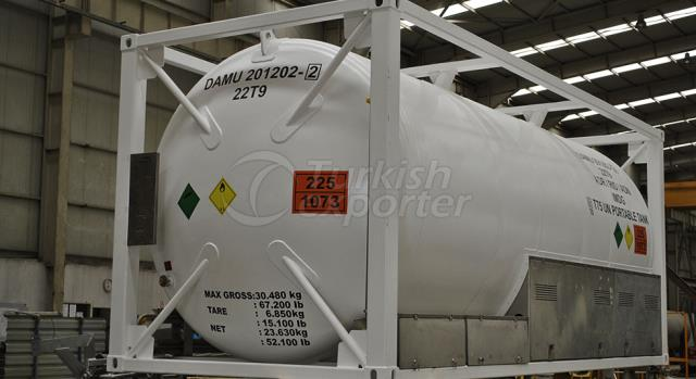 LNG, LIN, LOX, LAR ISO Tank Container