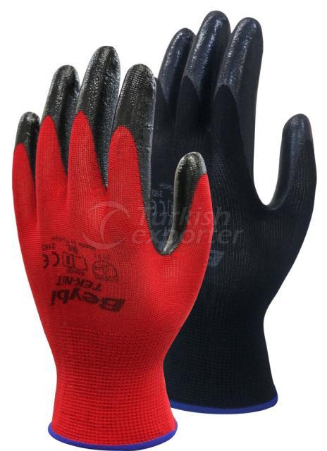 Nitrile Coated Knitted Gloves Tek-Nit
