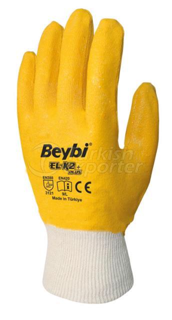 Nitrile Coated Cotton Gloves EL-K2 PLUS