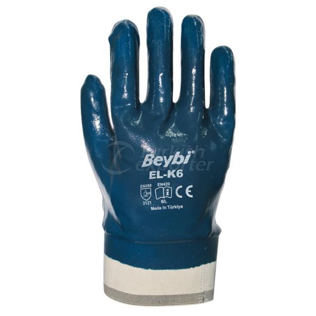 Nitrile Coated Cotton Gloves EL-K6
