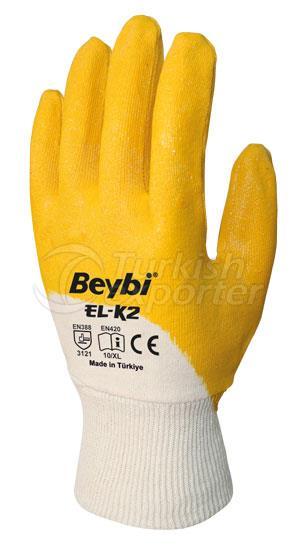 Nitrile Coated Cotton Gloves EL-K2