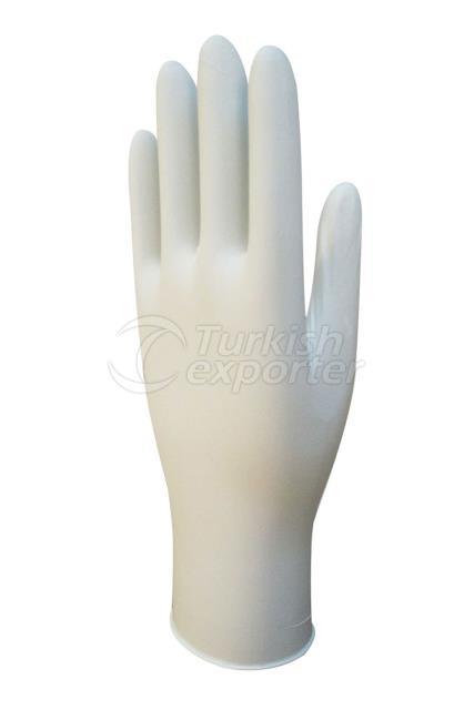 White Nitrile Examination Glove