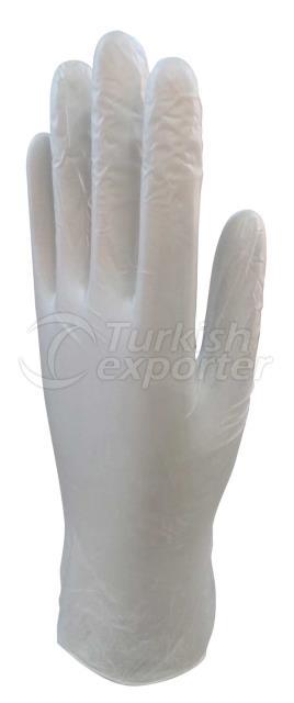 White Vinyl Examination Glove