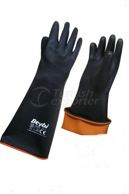 Korun Gloves Black Long