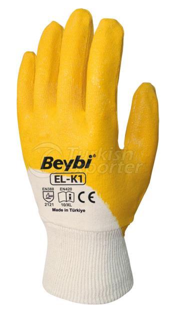 Nitrile Coated Cotton Gloves EL-K1